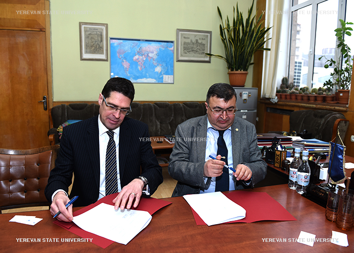 "The memorandum of cooperation between YSU and ""HSBC Bank Armenia"" CJSC"