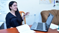RESEARCHER AT UNIVERSITY OF DELHI ANUSH GASPARYAN PRESENTES HER RESEARCH ON SEXUAL HARASSMENT IN THE WORKPLACE AT YSU