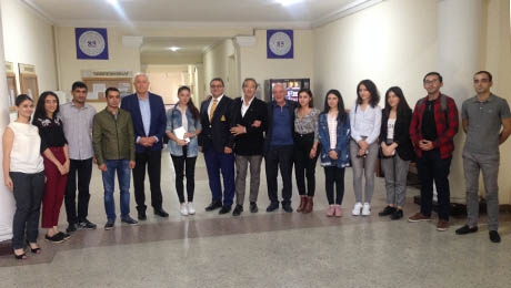 "REPRESENTATIVES OF ""L'ANCILLAIRE"" ORGANIZATION ARE AT THE FACULTY OF LAW"