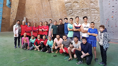 YSU APARAZH MOUNTAINEERING CLUB  PARTICIPATED IN MASTER CLASSES IN IRAN