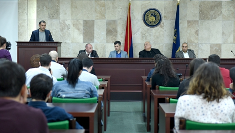YSU RECTOR ARAM SIMONYAN HELD A MEETING WITH STUDENTS
