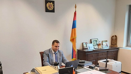 THE AMBASSADOR OF ARMENIA TO THE KINGDOM OF THE NETHERLANDS TIGRAN BALAYAN DELIVERED LECTURES TO THE MASTER'S STUDENTS IN THE FACULTY OF INTERNATIONAL RELATIONS.