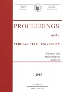 Proceedings of the YSU, Physical and Mathematical Sciences 2015  #1(236)