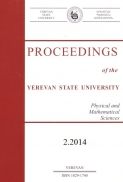 Proceedings of the YSU, Physical and Mathematical Sciences 2014 #2(234)