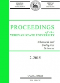 Proceedings of the YSU, Chemistry and Biology 2015  #2 (237)