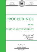 Proceedings of the YSU, Chemistry and Biology 2013 #2(231)