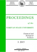 Proceedings of the YSU, Chemistry and Biology 2015  #3 (238)
