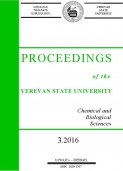 Proceedings of the YSU, Chemistry and Biology 2016  #3 (241)