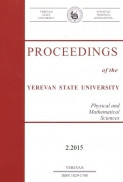 Proceedings of the YSU, Physical and Mathematical Sciences 2015  #2(237)