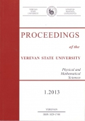 Proceedings of the YSU, Physical and Mathematical Sciences 2013 #1(230)